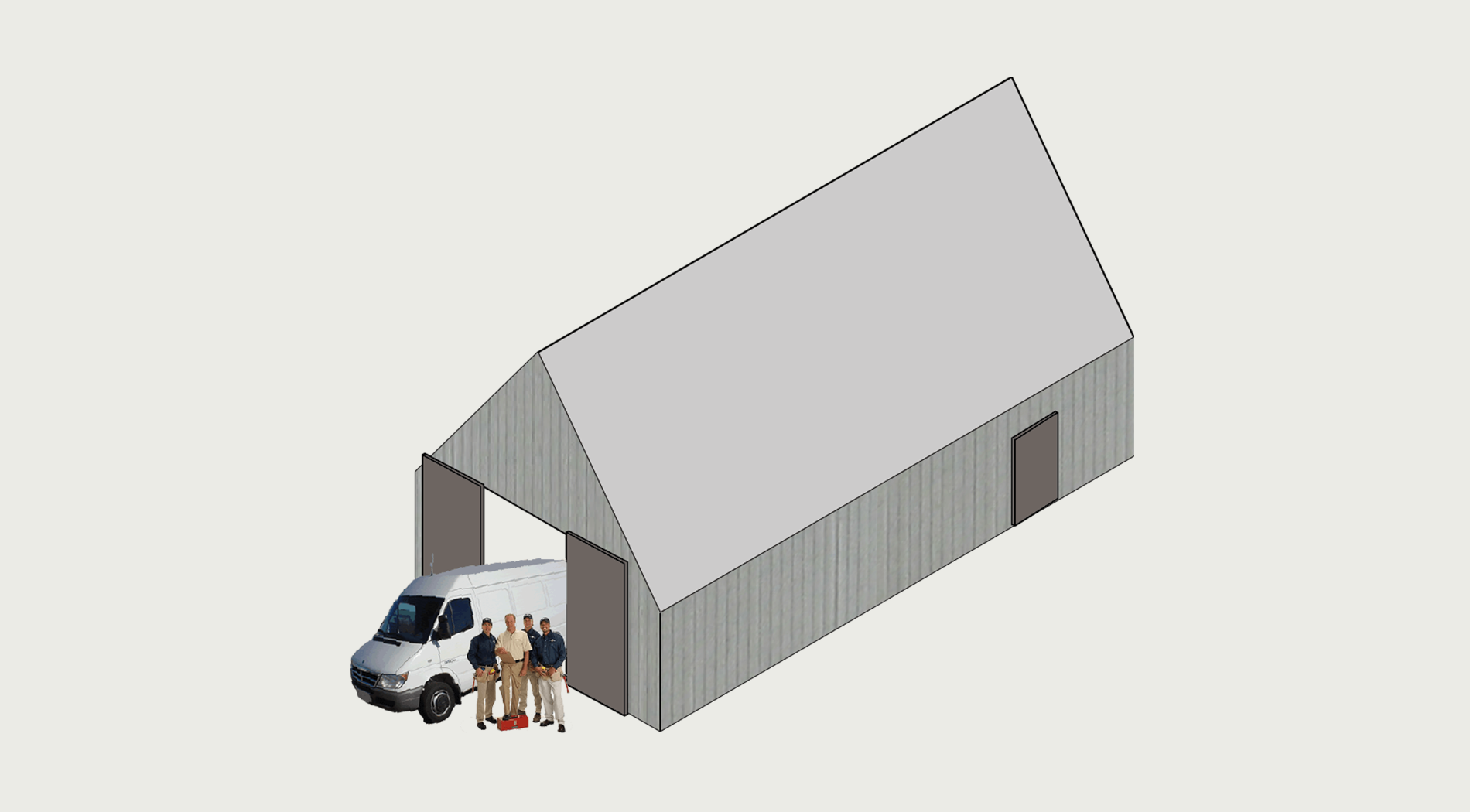 large shed or workshop - An Camas Mòr